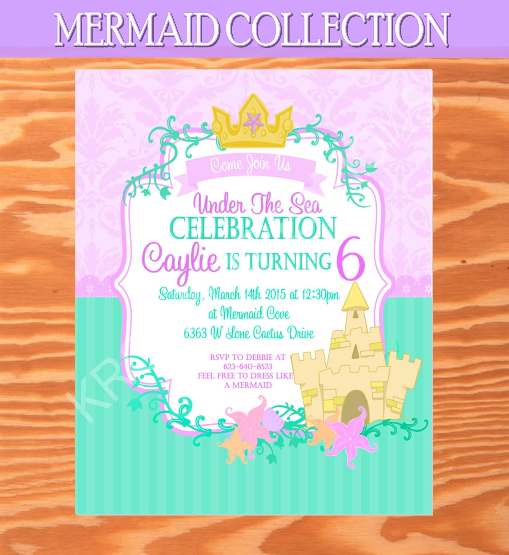 Mermaid birthday invitation mermaid party mermaid printables mermaid birthday invitation mermaid party mermaid printables filmwisefo