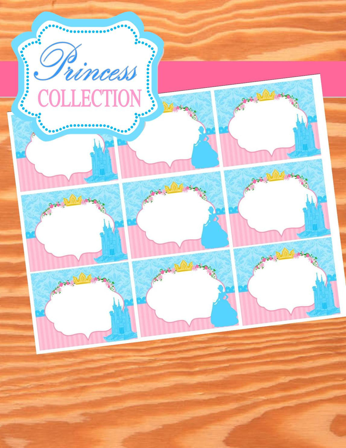 PRINCESS Party- Princess FOOD LABELS- Princess Birthday