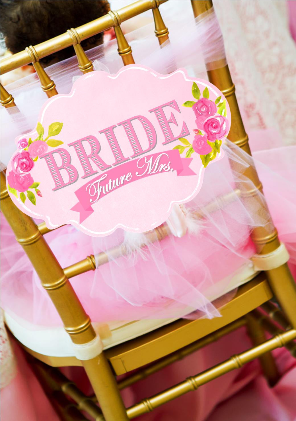 PINK BRIDAL SHOWER - Bride Sign - Wedding Sign - Bridal Shower- Pink Wedding