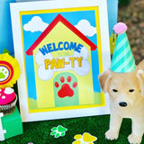 PUPPY PARTY - Dog Adoption Party - Puppy Birthday - Dog CENTERPIECES - BURSTS - Dog Party