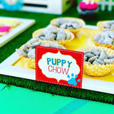 PUPPY PARTY - Dog Adoption Party - Puppy Birthday - Dog FOOD LABELS -Dog Party
