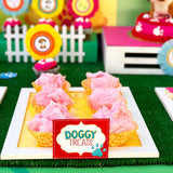 PUPPY PARTY - Dog Adoption Party - Puppy Birthday - Dog Bone FOOD Labels -Dog Party