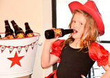 COWBOY Party- Horse Party- Red Cowboy- Horse STRAW FLAGS- Western Party