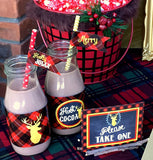 DEER Party- Reindeer- Deer Birthday- Christmas Party- Boy- COMPLETE- Plaid Christmas Party- Tartan