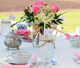 BRIDAL SHOWER- Tea Party- Pink- Princess- Pink Wedding- Pink Bridal Shower - TOPPERS