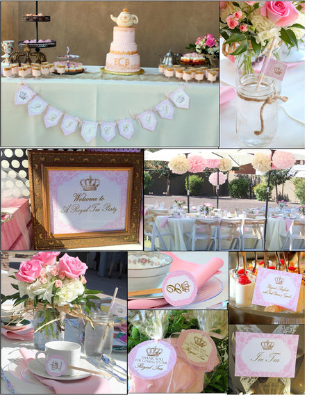 BRIDAL Shower - PARTY SIGNS- Pink- Princess- Wedding