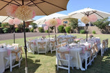 CORAL BRIDAL SHOWER- Coral and Gold- Peach- CORAL- STRAW FLAGS- Coral Wedding