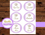 PURPLE BRIDAL Shower- CANDY JAR- Purple- Princess Party- Purple Wedding