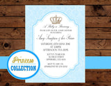 Prince INVITATION - Royal Invitation - Blue Invite - Prince