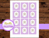 PRINCESS Birthday - TOPPERS - Princess Party- Purple Shower - Baby Shower