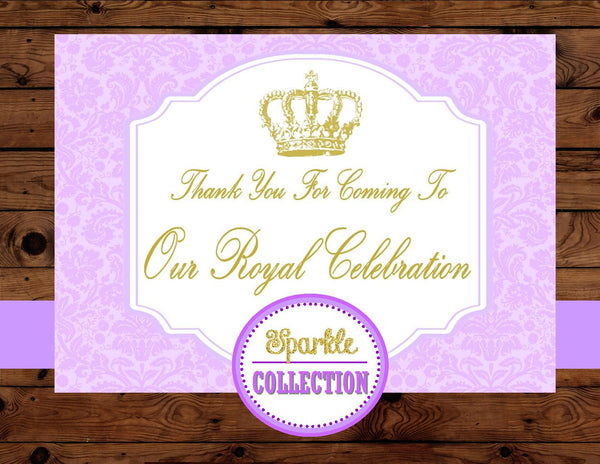 PURPLE PRINCESS- THANK YOU- Purple Shower- Baby Shower