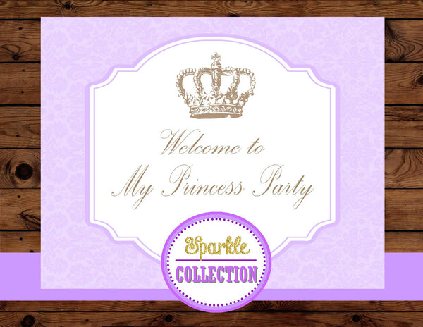 BRIDAL SHOWER - SIGNS- Purple- BABY- Wedding