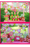 STRAWBERRY Party- Strawberry Centerpieces- BURSTS- Girl