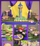 PRINCESS Party- BANNER- Party Printable- Princess Party Decorations - Ideas