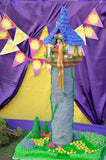 PRINCESS PARTY- Princess Birthday- Tower- Purple Princess Printables - COMPLETE
