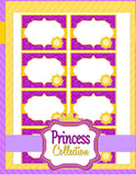 PRINCESS Party - FOOD LABEL- Party Printable - Princess Party Decorations