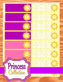 PRINCESS Party- Princess Party Decorations- Tower- CANDY LABEL- Sun