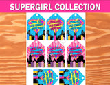 SUPERHERO Party- COMIC BOOK Party- SuperGIRL Birthday- Superhero THANK YOU TAGS