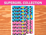 SUPERHERO Party- COMIC BOOK Party- SuperGIRL Birthday- Superhero STRAW FLAGS