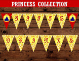 PRINCESS Party- BANNER- Princess Birthday Party- Decoration