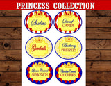 PRINCESS Party- Snow White- Princess Birthday Party- CANDY LABELS