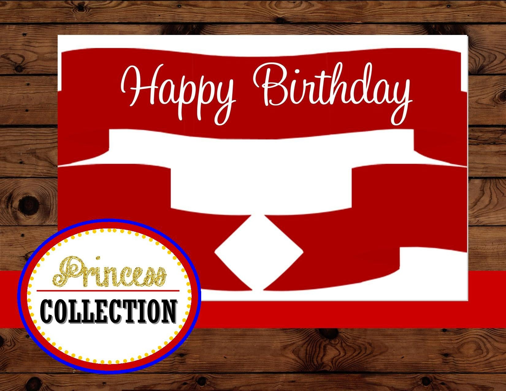 PRINCESS Party - RIBBON BANNER - Princess Birthday Party