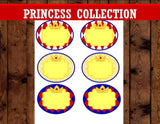 SNOW WHITE PARTY - Princess Party- Princess Birthday- Princess CANDY LABEL