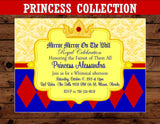 PRINCESS Party - Princess Birthday - Princess INVITATION