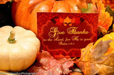 THANKSGIVING - TABLE SIGN - Holidays - Sukkot Favor Tags - Pumpkin - Leaf - Fall Party - Turkey - Autumn Birthday - INSTANT DOWNLOAD