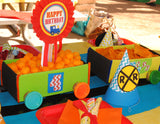 TRAIN Birthday Party - COMPLETE - Train Party - Boy Birthday Party - Train Party Printables - Engine - Railroad - Red - Blue