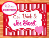 VALENTINES - Valentines Day - Valentine TAGS- Sweetheart Party - INSTANT Download