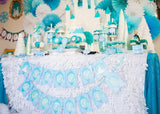 WINTER Party- BANNER- Girl Birthday- Frozen- Princess Party