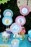 WONDERLAND Birthday Party- MAD HATTER Party- BOTTLE LABELS