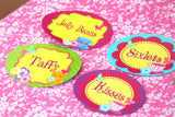 WONDERLAND Birthday Party- Alice FOOD LABELS- MAD HATTER Party- Alice Party