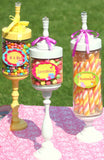 WONDERLAND Birthday Party- MAD HATTER Party- CANDY JAR CIRCLES