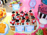 WONDERLAND Birthday Party - CUPCAKE TOPPERS - MAD HATTER