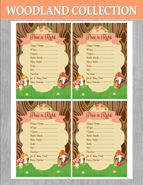 WOODLAND Baby Shower - Woodland Party - Woodland GAME