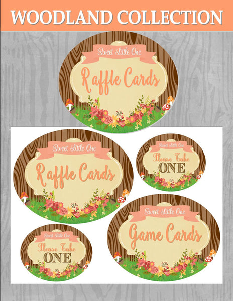 WOODLAND Party- Woodland SHOWER - Woodland GAME Labels