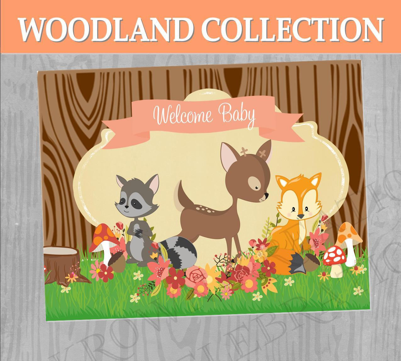 Fox Party - WOODLAND Party - Woodland Party SIGN