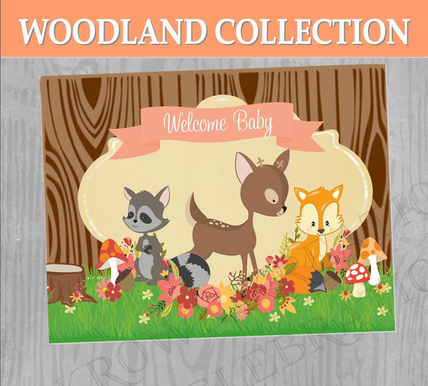 WOODLAND Birthday - Woodland Party - Woodland Party SIGN