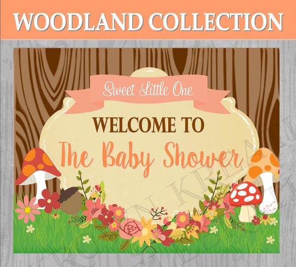 WOODLAND Baby Shower- Woodland Party- Forest Friends- Woodland SIGN