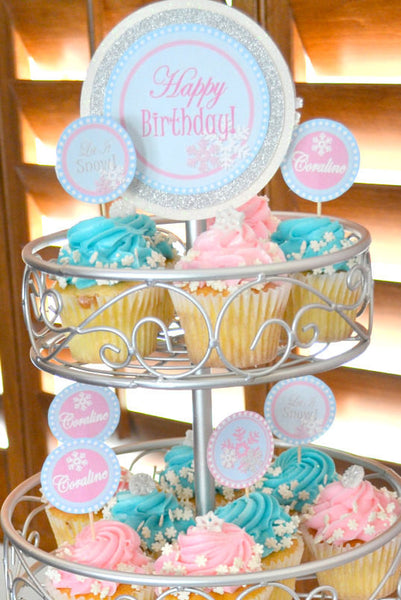 WINTER ONEDERLAND Birthday Party - Snowflake - TOPPERS