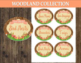 WOODLAND Party- Woodland SHOWER - Woodland FOOD LABELS