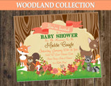 WOODLAND Baby Shower - Fox Party - Woodland INVITATION