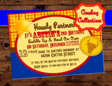 TOY Party - COWBOY INVITATION - COWBOY Birthday- TOY