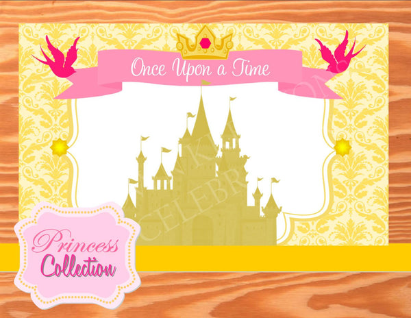 BELLE Party - PRINCESS Party - Princess BACKDROP - Bridal Shower Backdrop
