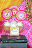 PRINCESS BIRTHDAY Party- Yellow Princess BOTTLE Labels - Princess Party