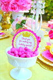 PRINCESS BIRTHDAY Party- Yellow Princess -Cup Wrappers - Princess Party