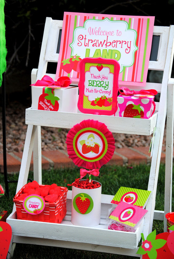 STRAWBERRY Party- Strawberry SIGNS- Strawberry Birthday