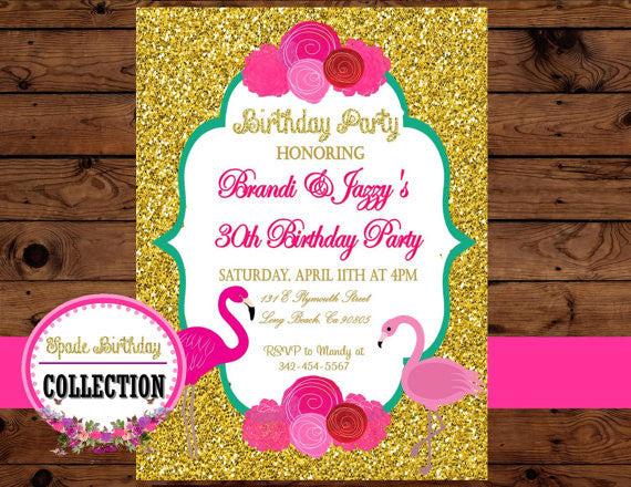 FLAMINGO Party - Flamingo Birthday - Flamingo INVITATION - Pineapple Party